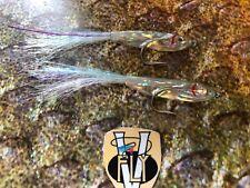 2 V Fly Size 2 Ultimate Surf Blue Softy Sandeel Bait Fish Saltwater Flies