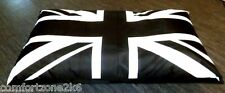 Zippy Large Union Jack Bean Bag Floor Cushion Beanbag Mattress Bed Waterproof Li Black & White