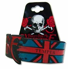 BULLET FOR MY VALENTINE - UNION JACK BLACK SILICONE WRISTBAND NEW BFMV