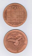 2000  medal International United Nations year of peace dove