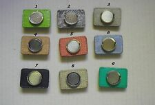 1 ONLY LEATHER BELT KEEPER or Golf Hat Clip with Ball Marker in random colours