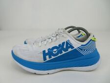 Hoka One One Carbon X Athletic Running Racing Shoes White Blue Mens Size 10.5 M