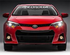 """toyota corolla windshield banner vinyl decals stickers with 1 logo 44.3"""" x 5"""""""