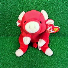 TY Beanie Baby 1995 Snort The Bull Original 9 Edition W/ PE Pellets Ships FREE