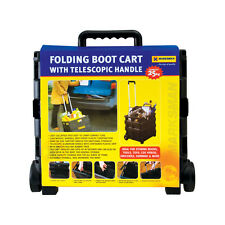 BLACK 25KG FOLDING SHOPPING TROLLEY STORAGE BOOT CART BOX CRATE CAR VAN CAMPING