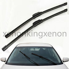 "All Season (2Pc) 18""+18"" U/J Hook OEM Bracketless Windshield #k24 2 Wiper Blades"