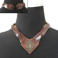 Leder Hals-Schmuck Luxus Halsband Gothic LARP Halscorsage Korsett Mittelalter