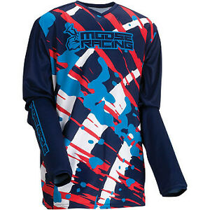 Moose Racing 2022 Motorcycle Youth Agroid Jersey Blue All Sizes