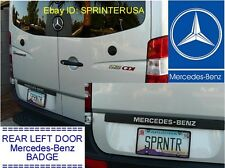 """NEW """"MERCEDES-BENZ"""" Name Plate Black Plastic Painted Letters for SPRINTER"""