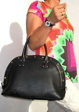 """MCM Damen Handtasche """"Alda Bowler Bag Medium Black"""" genarbtes Leder 38 cm"""