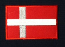 DENMARK DANISH NATIAONAL COUNTRY FLAG BADGE IRON SEW ON PATCH EUROPE CREST