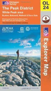 The Peak District (Explorer Maps) (Explo... by Ordnance Survey Sheet map, folded