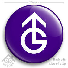 "GRANADA TELEVISION ITV TV Logo Badge 1970's 1980's -  25mm 1"" Badge"