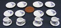 1:12 Scale 16 Piece Hand Painted Ceramic Tea Set Dolls House Miniature 23 Dining