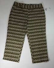 Rafaella  Capri Pants Olive Size 12 Curvy Fit Limited Edition