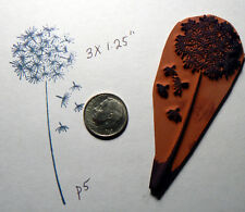 "P5 Dandelion rubber stamp 3.5x1.3"" Cling Mounted"