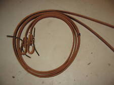 "Used New horse tack thick leather split reins trail 5/8"" thick trail riding"