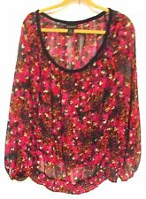 "Women's Plus Size 22/24, Semi-Sheer top by ""Lane Bryant,"" Multicolors"