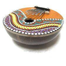Coconut Kalimba Mbira Congo Zimbabwe African Thumb Piano Painted Instrument