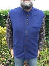 Gilet da uomo blu casual in cotone
