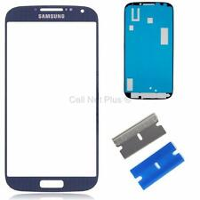 New Replacement Repair Screen Front Glass Outer lens For Samsung Galaxy S4 BLUE