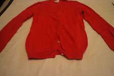 Crewcuts J. Crew GIRLS' GOLD-BUTTON CAROLINE CARDIGAN ORANGE