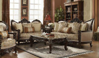 New Classic Victorian Carved Antique Style Luxury Living Room Sofa&Love Seat Set