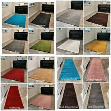 DYNO TRENDY COLOURS PLAIN NON-SHED SOFT SHAGGY SMALL X LARGE SALE RUG & RUNNER