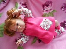 ens robe 3pièces poupée reborn, tinnie,baigneur,antonio juan 40/45 cm