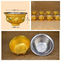 Tibet Tibetan Buddhist Mikky Offering Copper Water Bowl Divine Focus Ritual