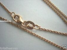 "Solid 18K Pink Rose Gold Chain 20"" Italian 1.72g Cable Tiff Link BEAUTY"