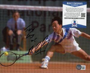 Michael Chang Tennis Signed 8x10 Photo AUTO Autograph Beckett BAS COA