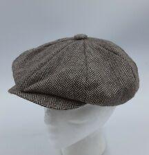 COUNTRY GENTLEMAN Herringbone Tweed Newsboy Hat Flat Cap Wool Blend Size 1