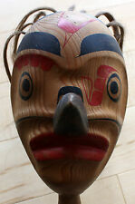 Original North West Coast Haida / Tlingit Spirit Ceremonial Rattle Circa 1900's