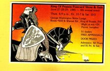 King of Prussia,PA Pennsylvania, Postcard show and sale advertising 1985