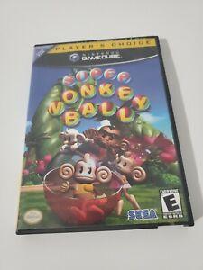 Super Monkey Ball Case No Disk Case & manual Only Nintendo Gamecube Original