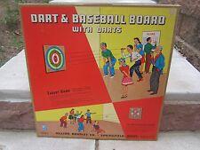 "Vintage Milton Bradley Dart Board Brand New With Original Box 18"" x 18"""