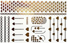 Finger Nail Art Sticker Wasser Flash Tattoo Gold Nagelsticker UV Gel 21Teile WG3