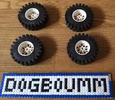 10µµ Lego PNEU COURROIE lot de 5 roues