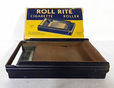 1940s ROLL RITE CIGARETTE ROLLER in BOX JOHNSON CO.