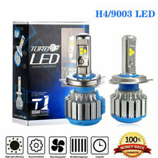 2PCS H4 HB2 9003 200W Turbo 6000K LED Headlight Conversion Beam Canbus Bulb Lamp