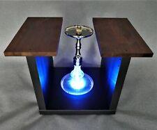 V2 SHISHA LED-TISCH Wasserpfeife Hookah Table Led Beleuchtung Licht schwarz Holz