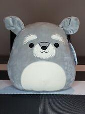 New- 8� Shaun The Schnauzer Puppy Dog Squishmallow- Plush Pillow- Kelly Toys