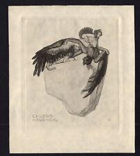04)Nr.156- EXLIBRIS- Franz von Bayros,1914, Ikarus Sphinx