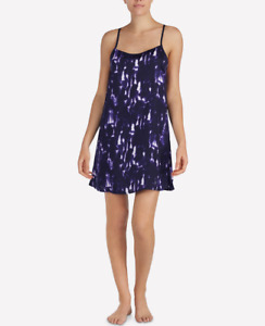 SIZES / COLORS DKNY Walk the Line Satiny Racerback Chemise Nightgown