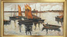 "COTTET Ch. ""Sunset over the sail "" reproduction sur toile par Elite-painting."