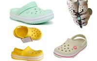 Kids CROCS Crocband Clog Sandals youths/children. Yellow, mint green, khaki