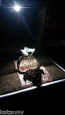 SHIMMERING GOLD DUST ILLUMINATED LED LIGHTED ENGAGEMENT RING BOX PROPOSAL CASE