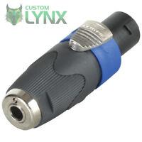 """Neutrik NA4LJX Speakon to 1/4"""" Jack Adaptor - 4 Pole Speakon to Jack Socket PRO"""