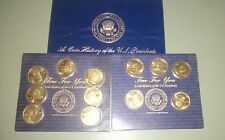1997 Readers Digest Solid Brass U.S. Presidential Coins 2 Cards + Trifold Book